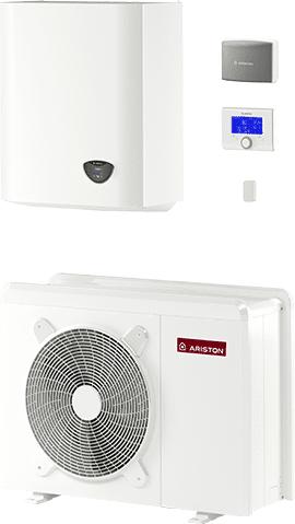 ariston pompa di calore aria-acqua splittati no acs per 1 zona nimbus plus m net 110m gas r410a (trifase)