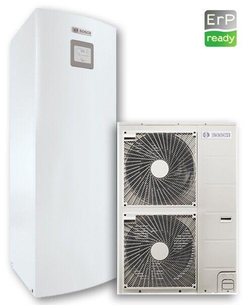 pompa di calore aria-acqua junkers con accumulo acs solare compress 3000 aws /awmss 15