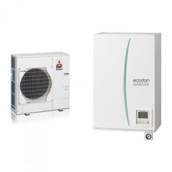 pompa di calore aria-acqua mitsubishi electric split hydrobox reversibile-ecodan suhz-5w 45 va