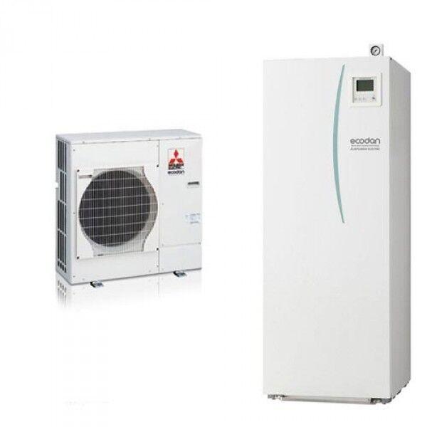 pompa di calore aria-acqua mitsubishi electric ecodan-hydrotank puhz-5w 75 vha