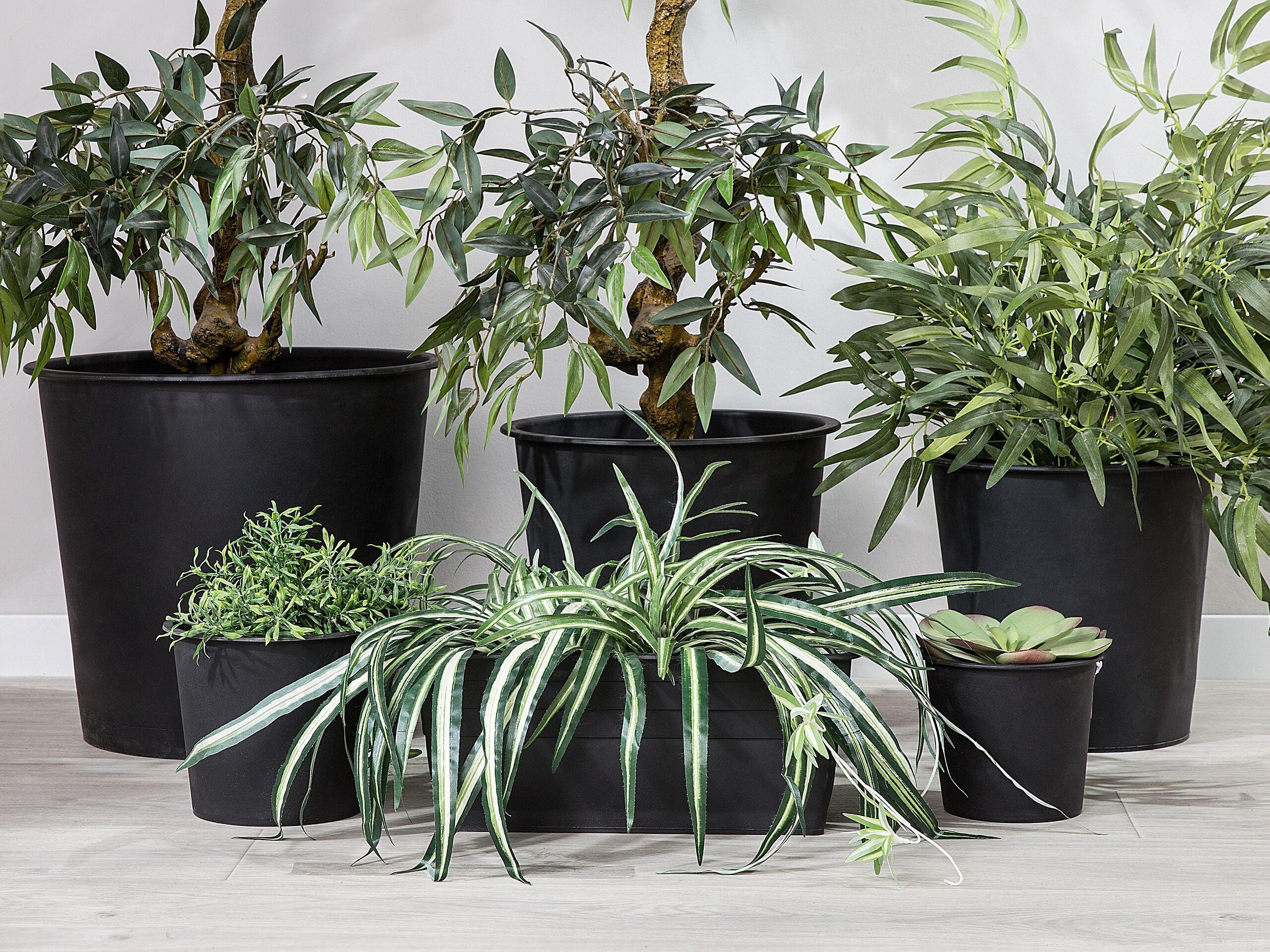 beliani set di 3 inserti protettivi rotondi per vasi con irrigazione ⌀ 34 cm
