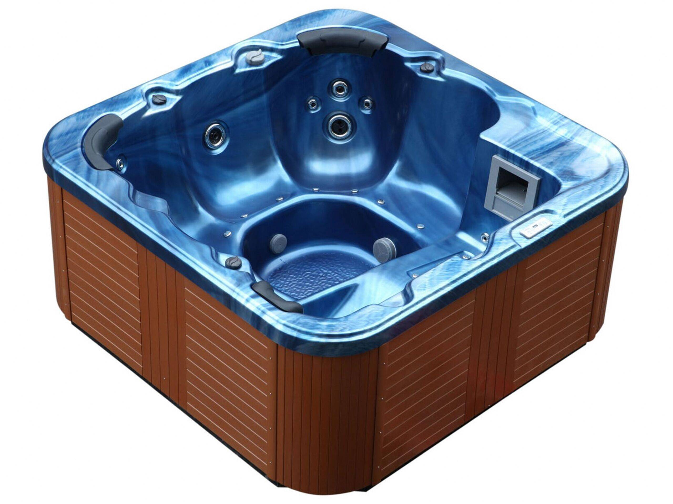 beliani vasca idromassaggio da esterno riscaldata blu