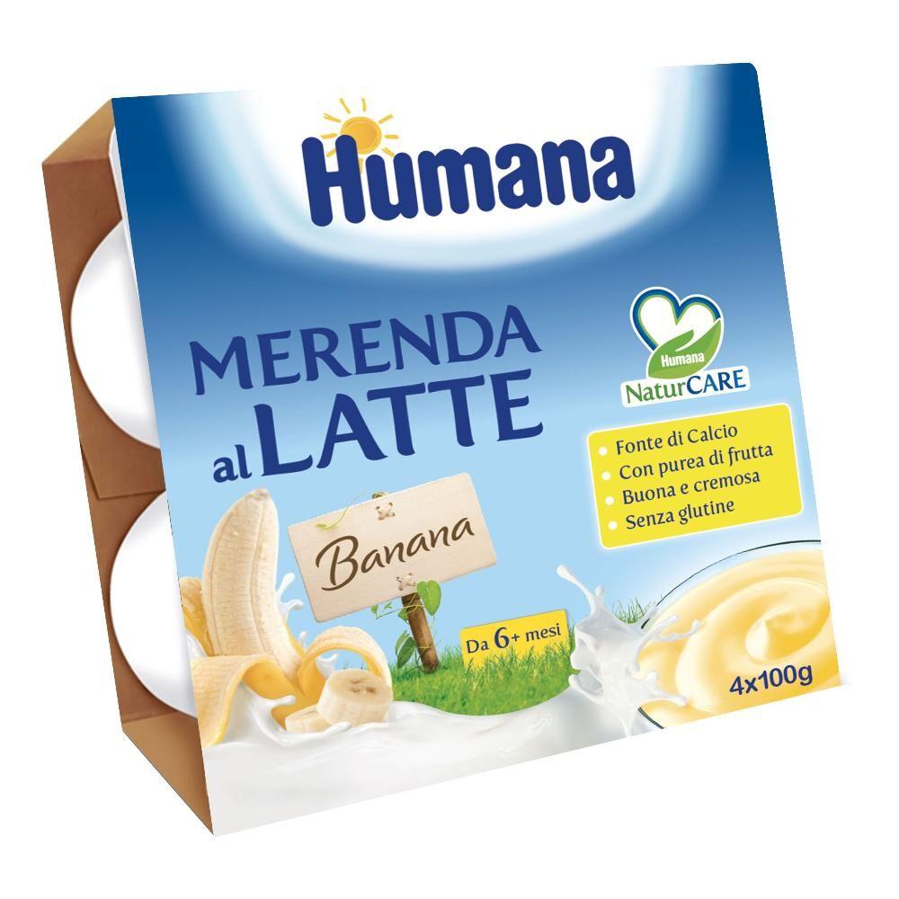 humana italia spa humana merenda banana 4x100g