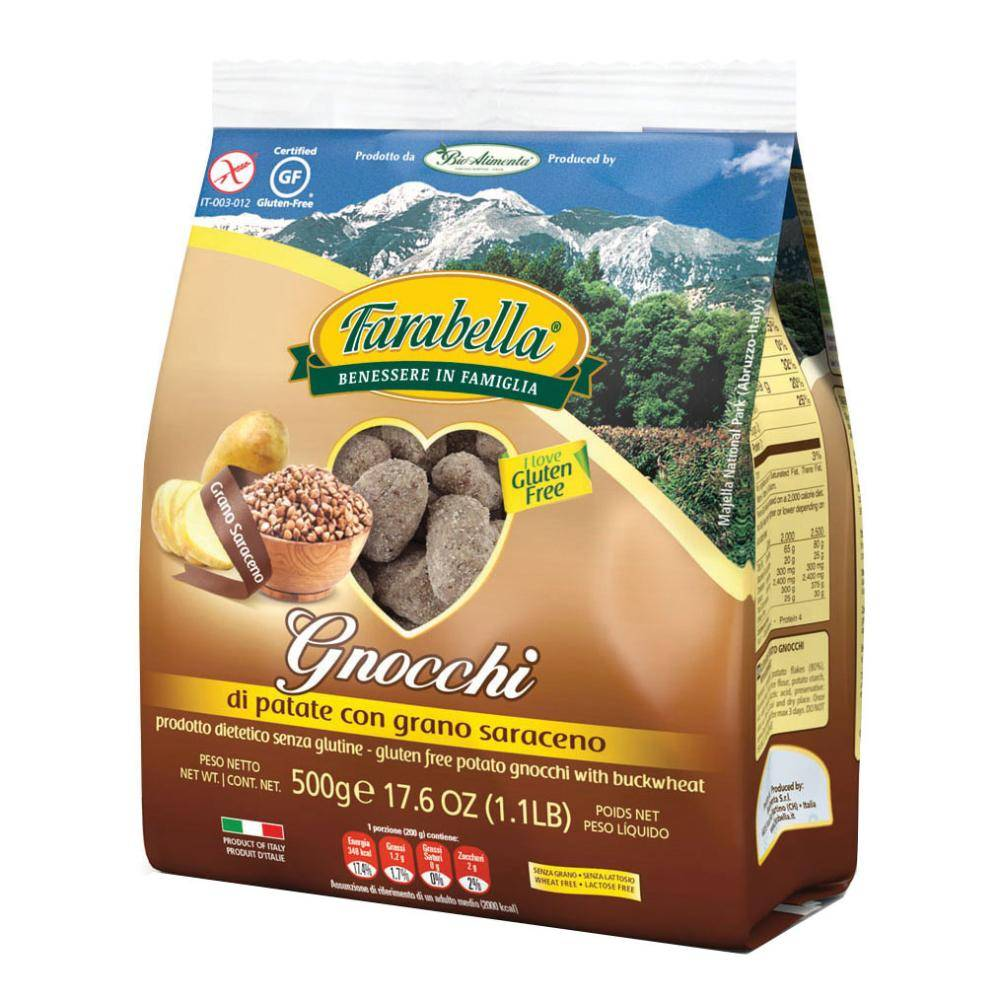 Bioalimenta Srl FARABELLA Pasta Gnocchi Grano Saraceno 500g