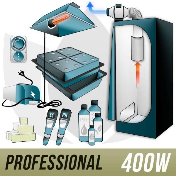 GHE Kit Aeroponica 400w + Grow Box - PRO
