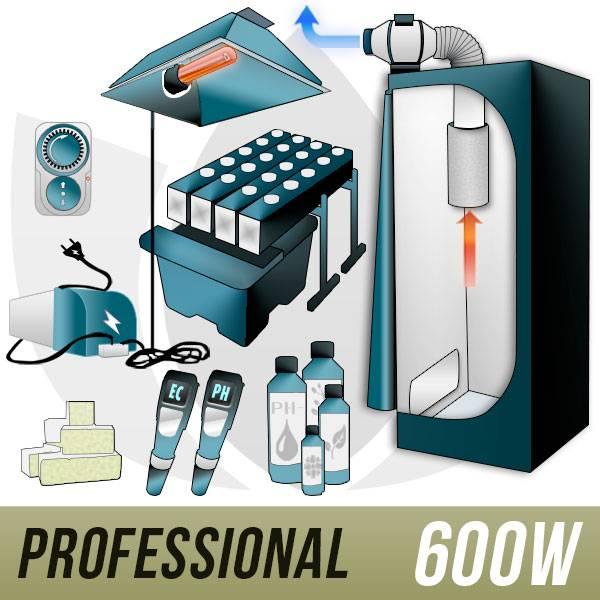 GHE Kit Aeroponica 600w + Grow Box - PRO