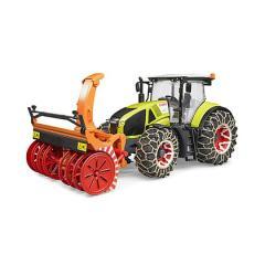bruder trattore claas axion 950 con catene e fresa neve (03017)