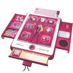 grandi giochi barbie & me tablet organizer (gg00405)
