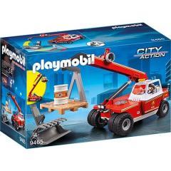 Playmobil Veicolo con Braccio Telescopico dei Vigili del Fuoco (9465)