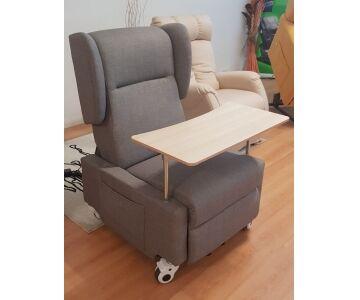 poltrona relax lift (alzapersona) braccioli removibili, 2 motori, mod. nadira (microfibra beige cons 5 giorni)