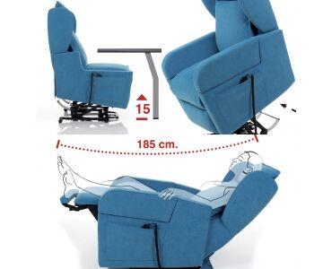 poltrona relax lift (alzapersona) braccioli removibili, 2 motori karol (idra smacch. a405 cons 15 giorni)
