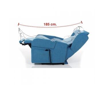 poltrona relax, posizione tv, 2 motori mod. karol  (queens idrorepellente brown cons 7 giorni)