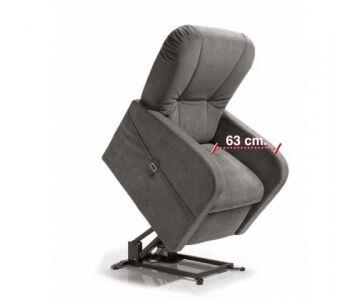 Poltrona Relax Large Alzapersona per Taglie Forti, seduta 63x50, mod. Raffa Large (Ecopelle Artik 02 cons 2 settim)