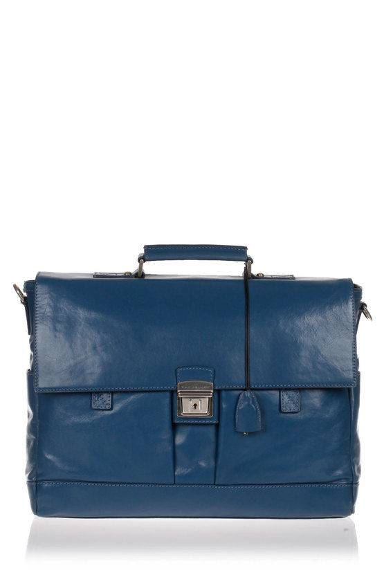 The Bridge Cartella Business Patch Luxe Porta PC Blu taglia Unica
