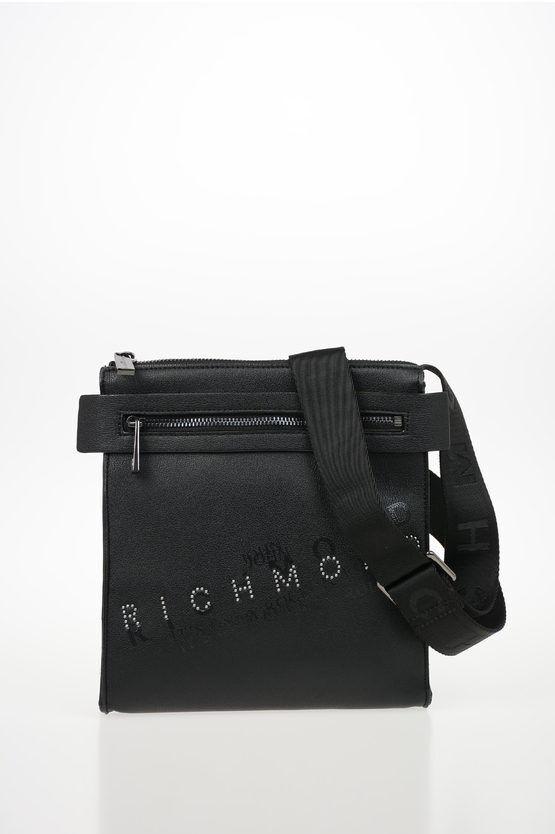 richmond borsa a tracolla orizab in ecopelle stampata con borchie taglia unica