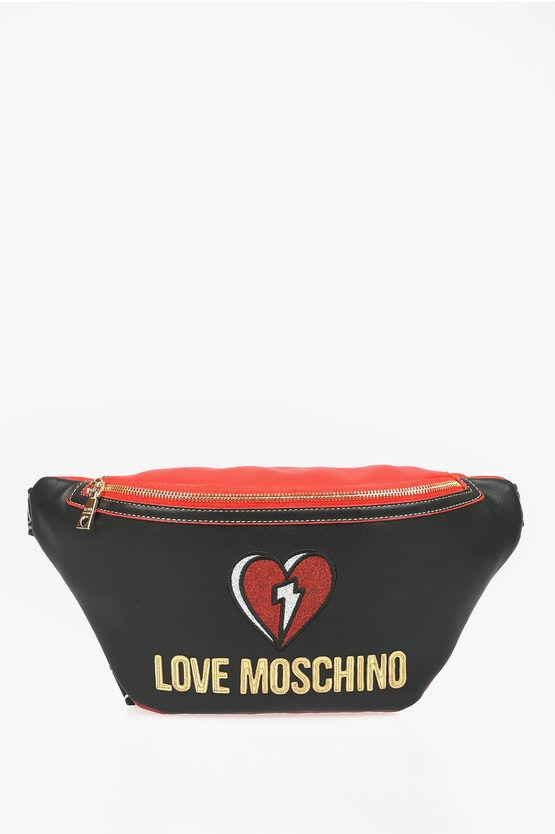 Moschino LOVE Marsupio OUT OF BLUE in Ecopelle con Glitter taglia Unica