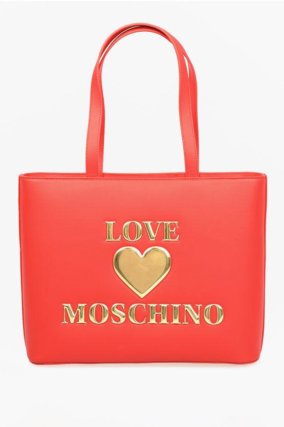 Moschino LOVE Borsa PADDED SHINY HEART in Ecopelle taglia Unica