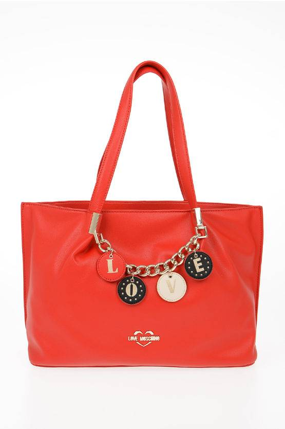 Moschino LOVE Borsa Tote LOVELY CHARMS in Ecopelle taglia Unica