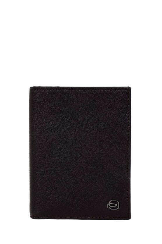 Piquadro BLACK SQUARE Portafoglio con Porta Carte di Credito Testa di taglia Un