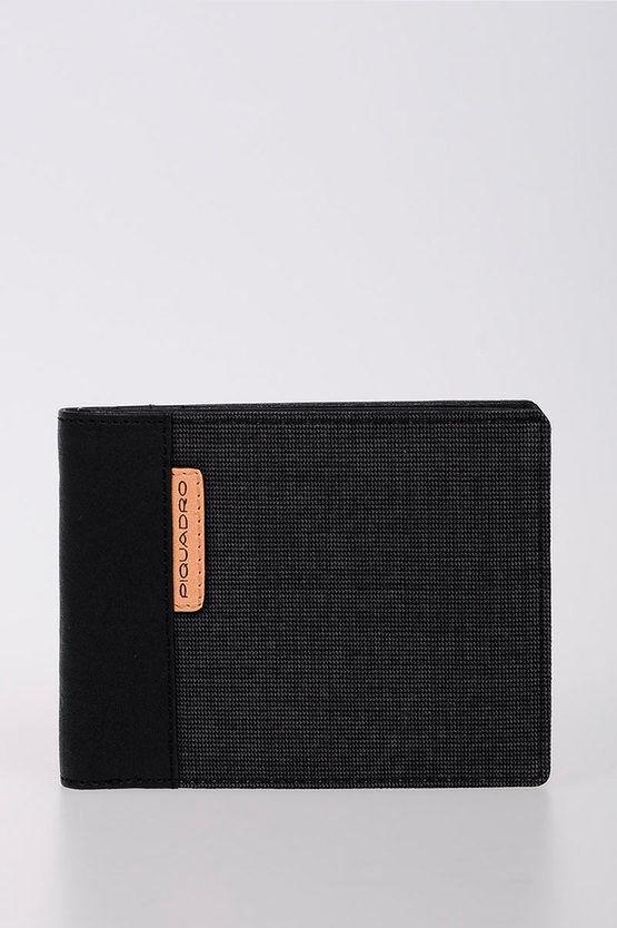 Piquadro BLADE Portafoglio con porta Carte di Credito Nero taglia Unica