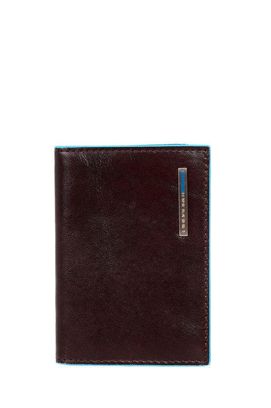Piquadro BLUE SQUARE Porta Carte di Credito a ventaglio Mogano taglia Unica