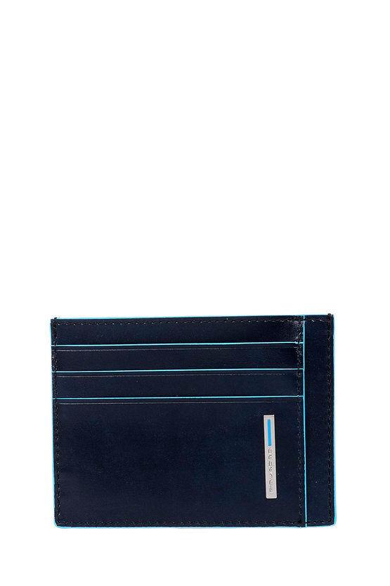 Piquadro BLUE SQUARE Porta Carte di Credito Blu taglia Unica