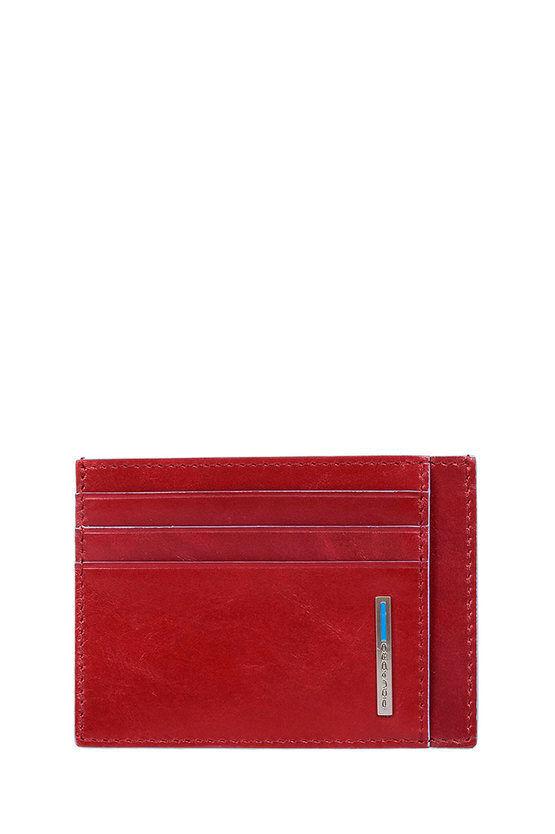 Piquadro BLUE SQUARE Porta Carte di Credito Rosso taglia Unica