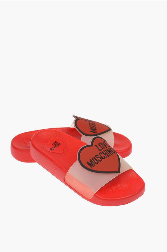 Moschino LOVE Ciabatta stampa cuore taglia 35