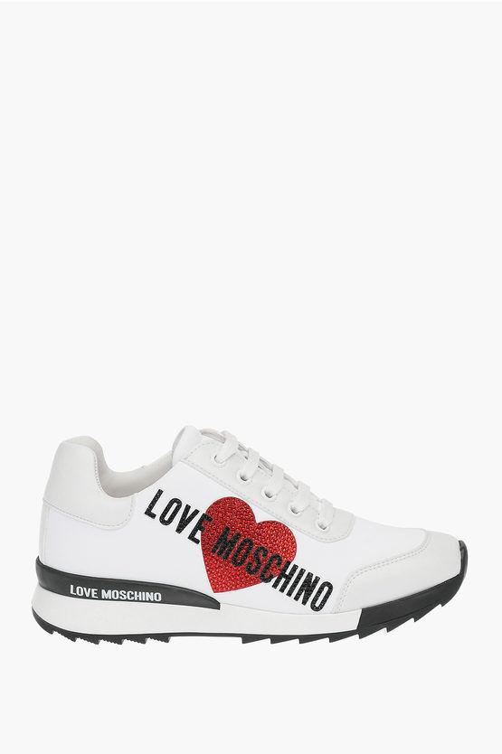 Moschino LOVE Sneakers GLAM con dettaglio glitter taglia 35