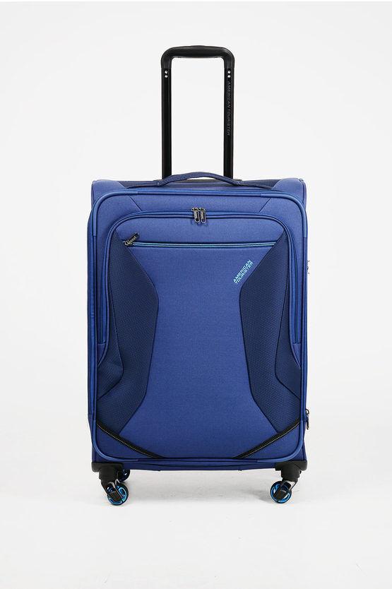 American Tourister ECO WANDERER Trolley Medio 67cm 4R Espandibile Blu taglia Unica