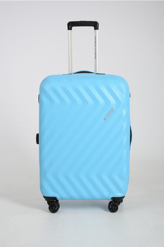 American Tourister ZIGGZAGG Trolley Medio 67cm 4R Spring Blue taglia Unica