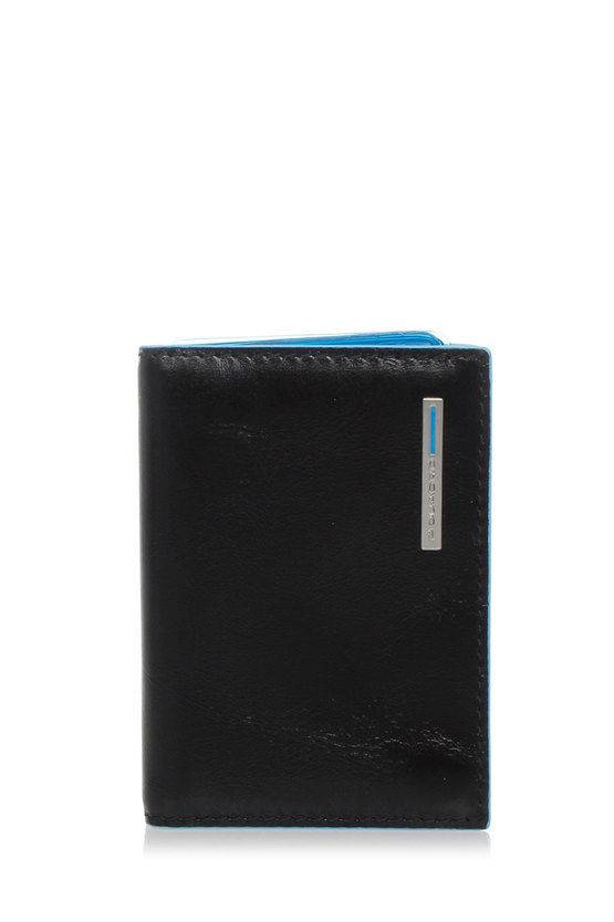 Piquadro BLUE SQUARE Porta Carte di Credito Nero taglia Unica