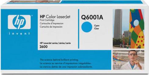 HP Q6001a Toner Originale Colore Ciano Per Color Laserjet 1600/2600/2605 - Q6001a 124a