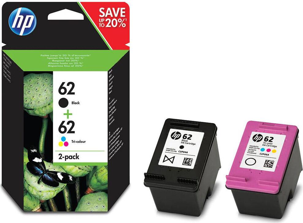 HP N9j71ae Multipack 2 Cartucce Originali Per Stampante 1 Nero 1 Tri-Color Ciano, Magenta, Giallo Compatibile Con Hp Envy 5540/5640/7640 E Officejet 5740 - 62 - N9j71ae