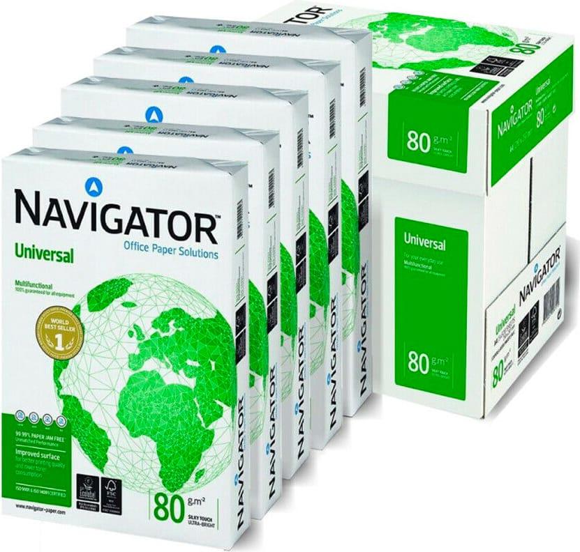 navigator Nun0800533 Risma Carta A4 5 Risme Da 500 Fogli (210x297 Mm) Seta Bianco - Universal Nun0800533