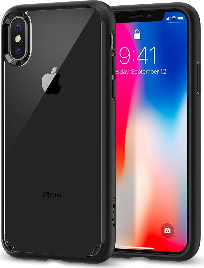 spigen 057cs22129 Custodia Cover Per Apple Iphone X Tecnologia Ultra Hybrid Colore Nero Matt - 057cs22129 Ultra Hybrid