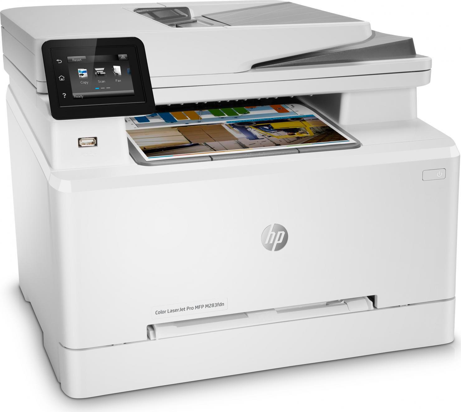 HP 7kw74a#b19 Stampante Multifunzione A Colori Laser Wifi 600 X 600 Dpi 22 Ppm A4 - 7kw74a M283fdn Color Laserjet Pro
