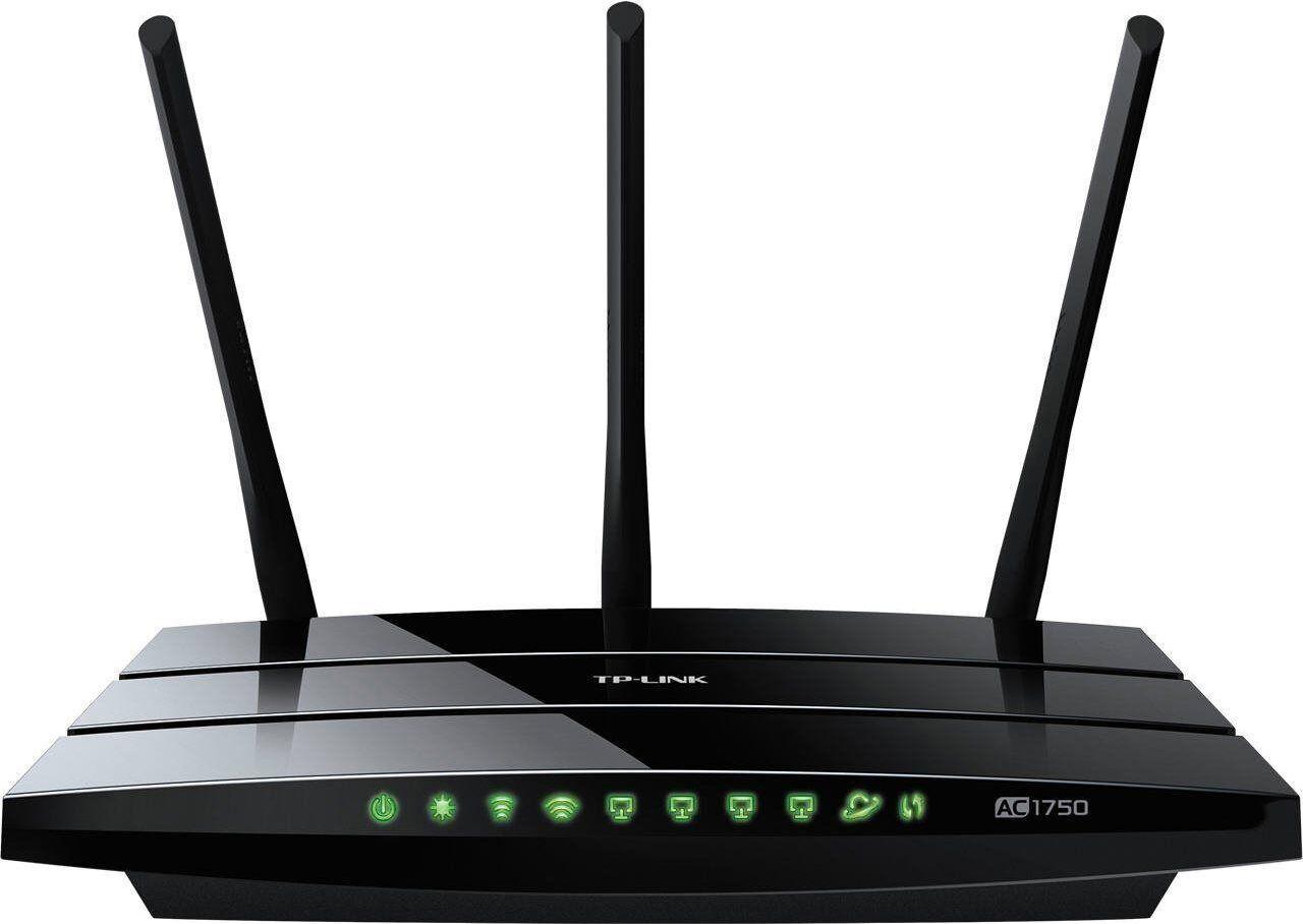 TP-Link Ac1750 Modem Router Wireless Dual Band 4 Porte Lan 10/100/1000 Mbit/s - Archer C7 Ac1750