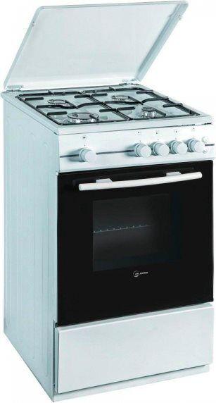 atlantic Atmc55 Cucina A Gas 4 Fuochi Con Forno Elettrico Larghezza X Profondità 50x50 Cm Classe Energetica A Colore Bianco - Atmc55