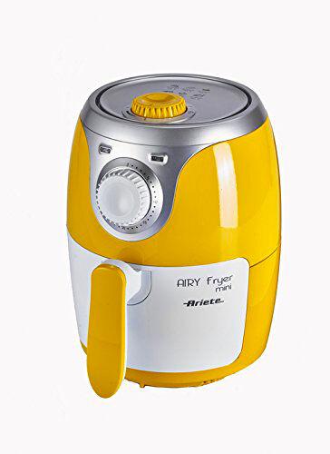 Ariete 4615 Friggitrice Ad Aria Senza Olio Potenza 1000 Watt Termostato Regolabile E Timer Colore Giallo - 4615 Airy Fryer