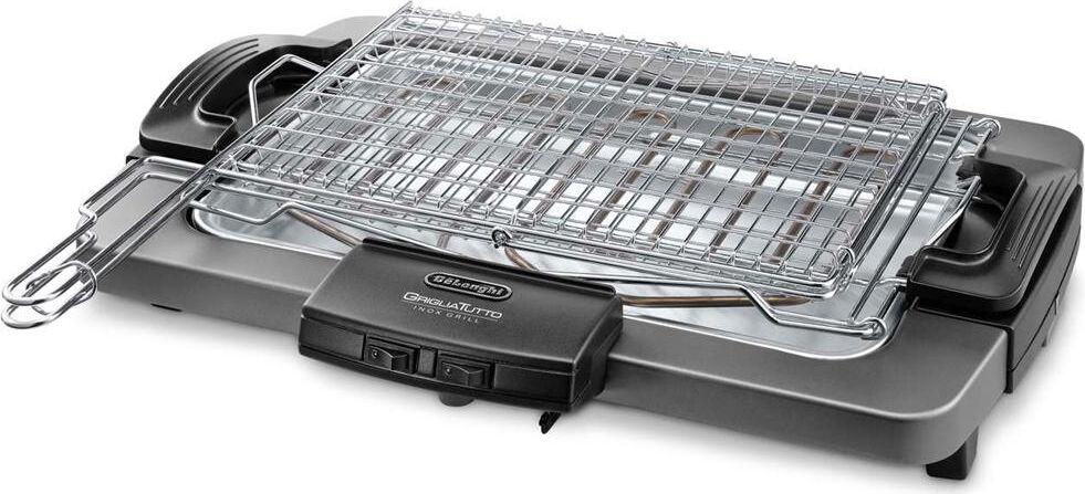 DeLonghi Bq80x Griglia Elettrica Barbecue Elettrico Da Tavolo Potenza 2450 Watt Colore Grigio - Bq 80.X