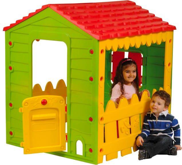 nbrand 69-560 Casetta Da Giardino Per Bambini 118x106x127 Cm Casa Gioco Con Finestre Porte - 69-560
