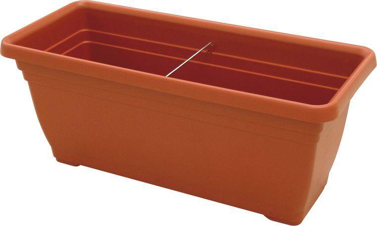 ics R600100 Vaso In Plastica Per Piante E Fiori Fioriera Rettangolare Per Giardino E Balcone Cm 100x45x40 H - Daphne - R600100
