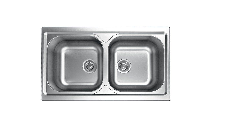 apell Tm862ipc Lavello Cucina 2 Vasche Incasso Larghezza 86 Cm Materiale Acciaio Inox Finitura Prelucida - Tm862ipc Serie Atmosfera