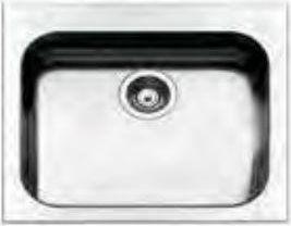 apell Tog571ibc Lavello Cucina 1 Vasca Incasso Larghezza 57 Cm Materiale Acciaio Inox Finitura Spazzolata - Tog571ibc Serie Torino