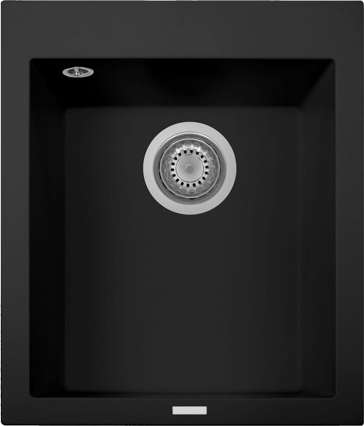 plados On4110 Ug70 Lavello Cucina Fragranite 1 Vasca Incasso Larghezza 41 Cm Materiale Ultragranit Colore Black Matt Ug70 - On4110 Serie One