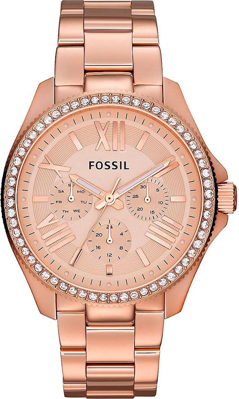 fossil Am4483 Orologio Donna Quadrante Analogico Con Movimento Al Quarzo Cassa Placcato Oro Cinturino Colore Oro Rosa - Am4483