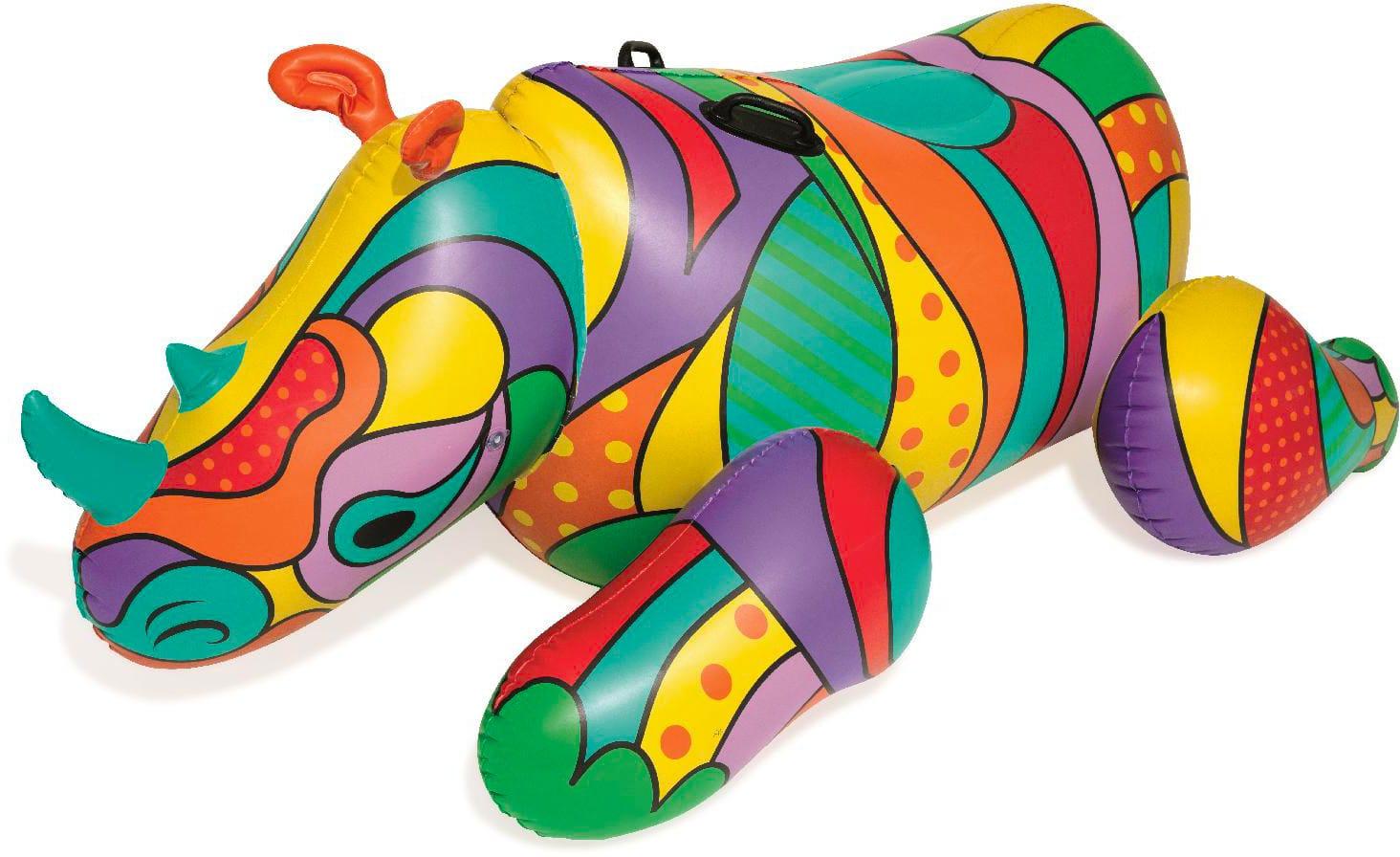 bestway 41116 Gioco Gonfiabile Per Bambini Cavalcabile Piscina Mare 201x102 Cm Rhino Pop - 41116