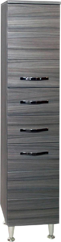 g.n.cucine Antonella_36 Elemento Colonna Bagno Mobile In Mdf/pvc Con 2 Ante / 2 Cassetti 33x33x160h Cm Colore Palissandro - Antonella