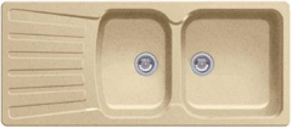Blanco 1217083 Lavello Cucina 2 Vasche Incasso Con Gocciolatoio Larghezza 116 Cm Base 80 Cm Materiale Silgranit Colore Avana (Sabbia) - 1217083 Nova 8 S